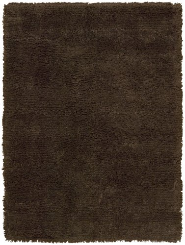 Nourison Shaggy Solid Chocolate 5 0 Feet By 7 0 Feet
