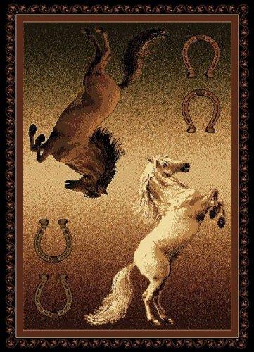 United Weavers Legends Area Rug 910 05850 Ponies Black