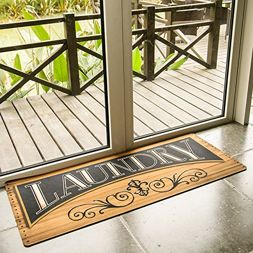 Ustide High Quality Wood Print Floor Rug For Laundry Room