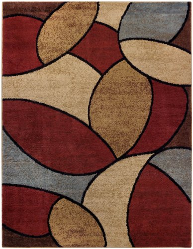 Multicolor Oval Tiles Contemporary 7 10 Quot X 10 6 Area Rug