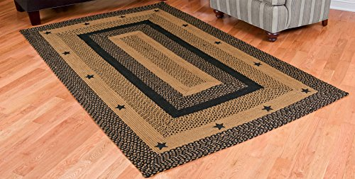 Ihf Home Decor New Braided Rugs Star Black Design