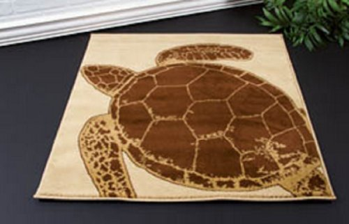 Floor Rug Turtle Crossing Features A Sea Turtle 31 X