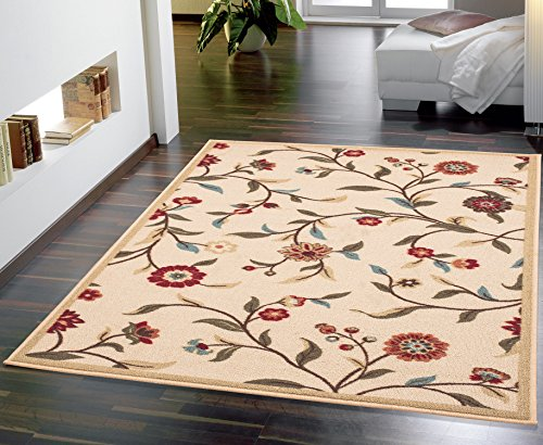 Ottomanson Otto Home Collection Floral Garden Design