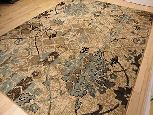 Large 8x11 Contemporary Rugs For Living Room Dining 8x10 Clearance Under 100 Indoor Office Blue Beige Cream