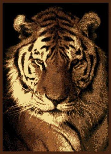 United Weavers Legends Area Rug 910 02450 Tiger Portrait