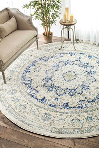Traditional Persian Vintage Fancy Blue Area Rugs 5 Feet