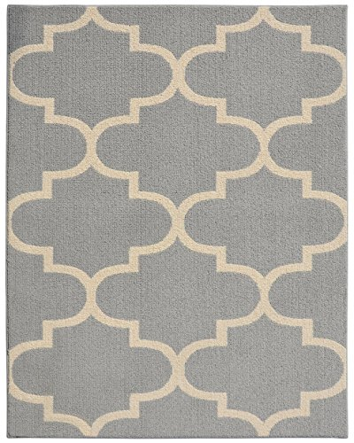 Hobby Lobby Large Area Rugs: Garland Rug Large Quatrefoil Area Rug, 8 X 10″, Silver