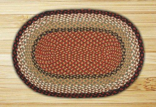 Earth Rugs 07 019 Oval Rug 5 X 8 Burgundy Mustard