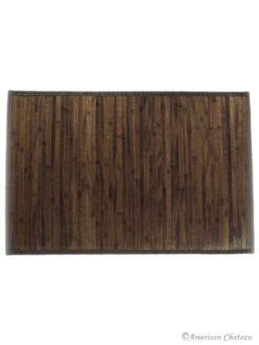 2 X 3 2x3 Chocolate Brown Slat Bamboo Area Rug Floor Mat