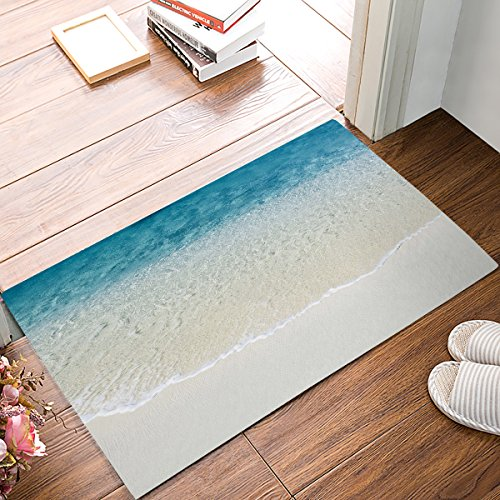 Alago Tropical Beach Clear Sea Water Doormats Entrance