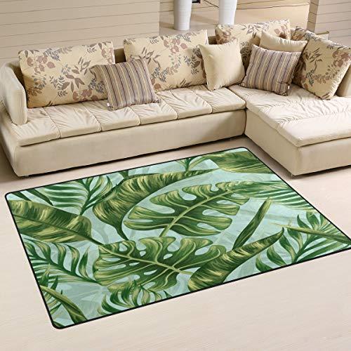 ALAZA Non-Slip Area Rugs Home Decor, Tropical Palm Tree ...