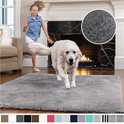 Door-mat Bath Mats for Floors TBRfine Animal 36x60 Blue Mouse Tulip Bouquet